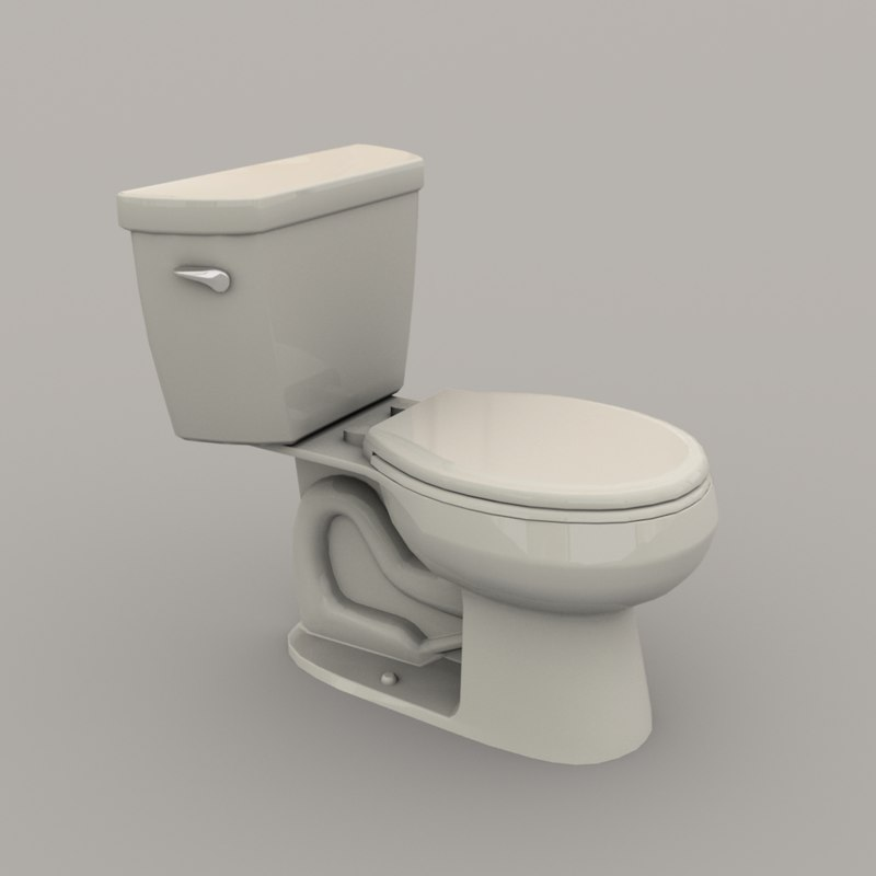 3D model toilet polys realistic