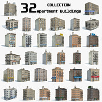 ready 32 apartment buildings 3D