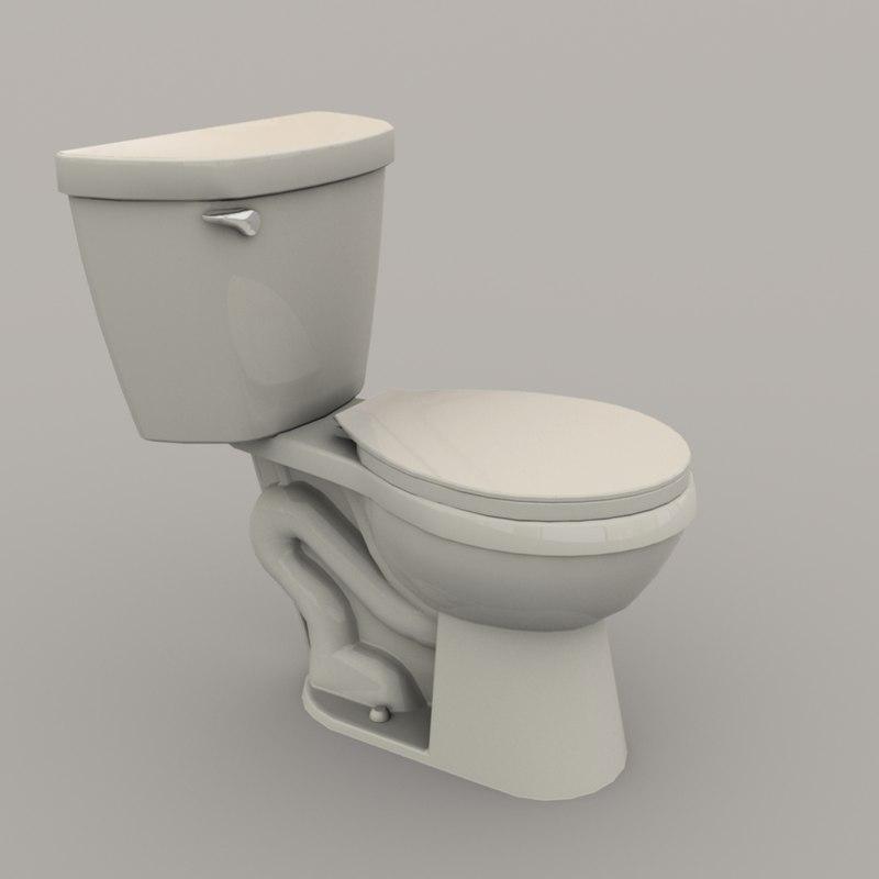 3D toilet polys unity model