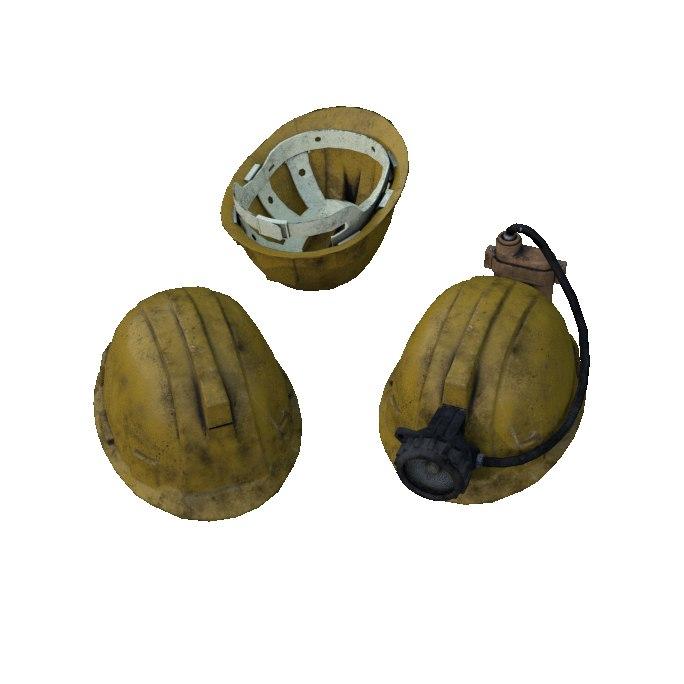 miner s helmet 3D model