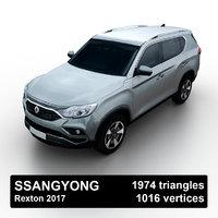 3D 2017 ssangyong rexton model