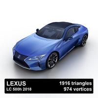 2018 lexus lc 500h 3D model