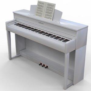 optimized digital piano yamaha 3D model