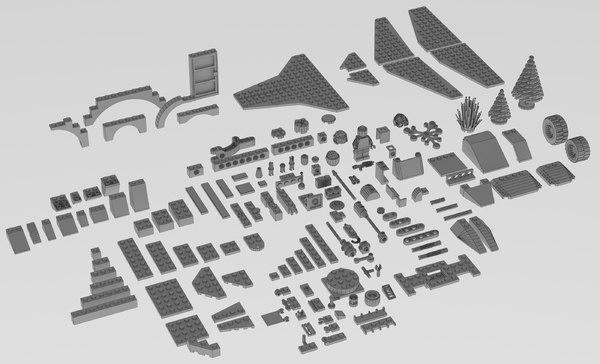 lego brick pack 3D model