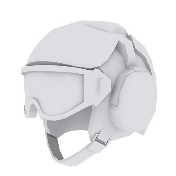 3D military helmet model