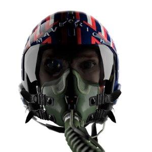 fighter helmet 3D model