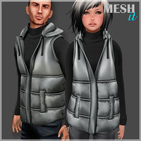 Winter Vest Set Male and Female