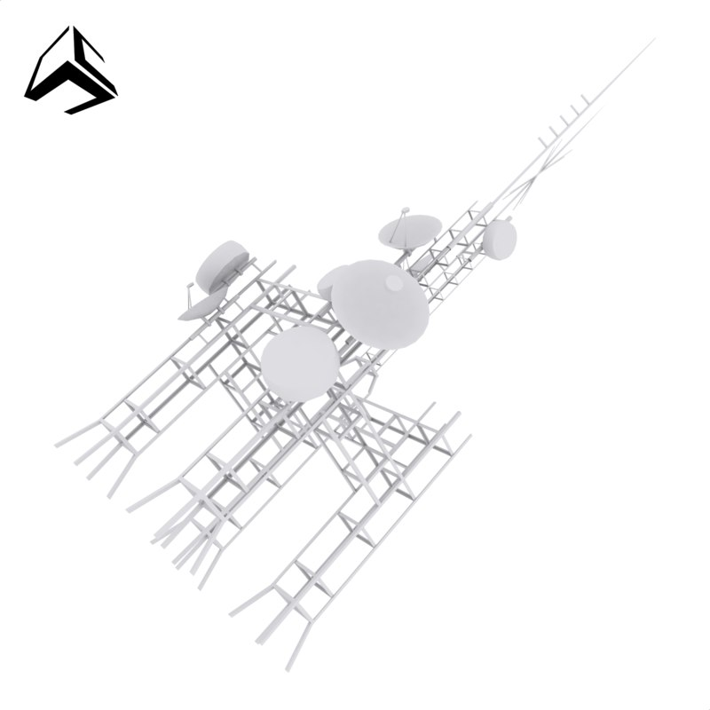 3D sattelite dish tower