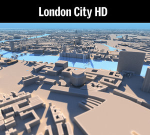 3D london england city