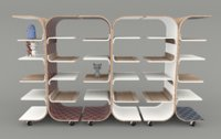 bookcase modern design 3D model