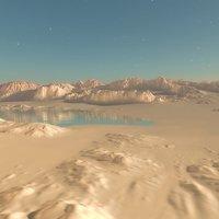 3D scene vue rocky desert