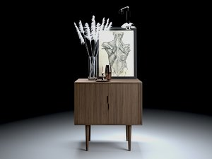 decorative credenza set 3D model