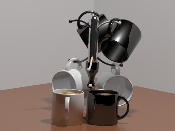 3D model coffee cups