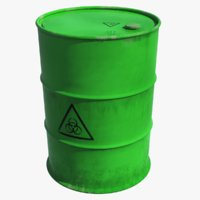 toxic waste barrel 3D model