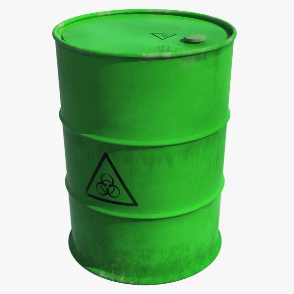 toxic waste barrel 3D model