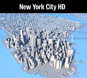 3D new york city