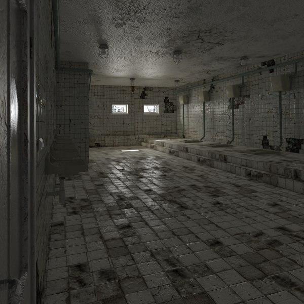 old public toilet 3D