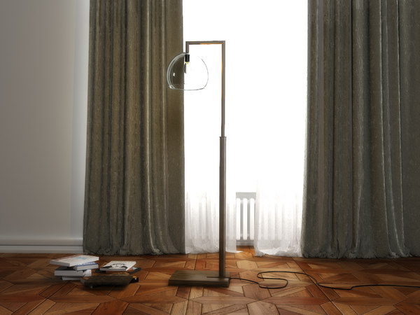 3D model floor lamp montecito