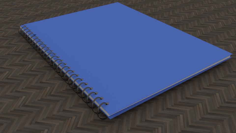 3D notebook blue