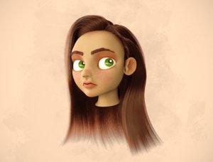 girl head 3D