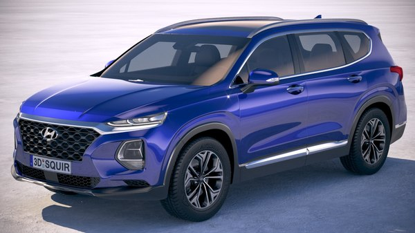 3D hyundai santafe 2019 model