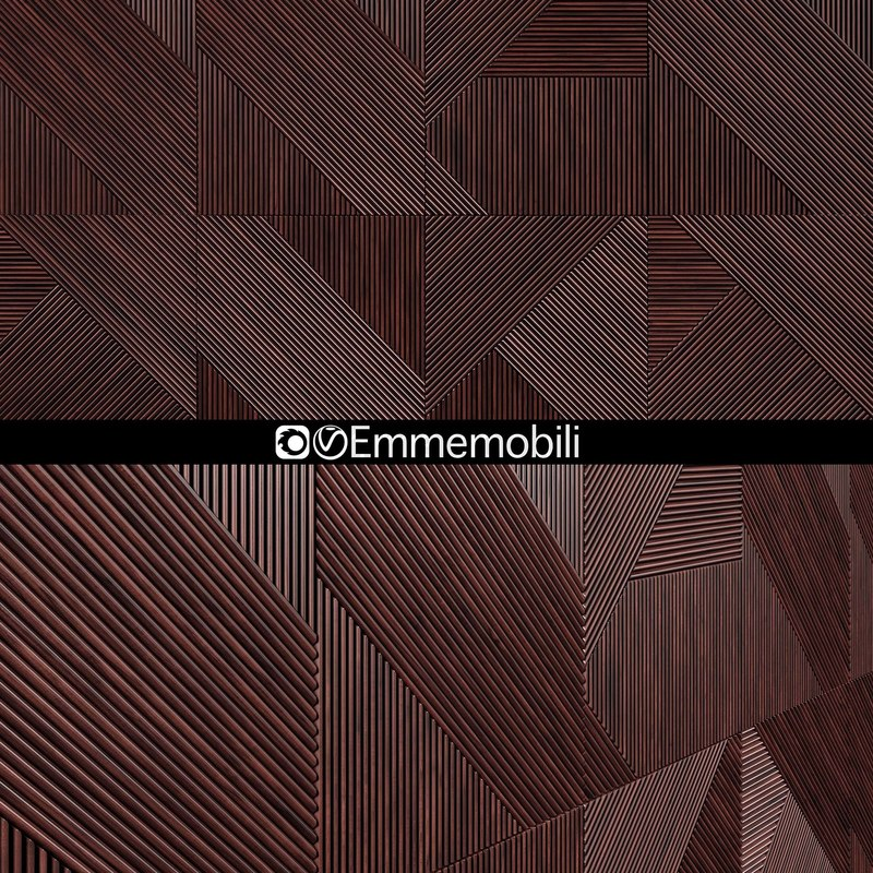 3D wooden panels emmemobili model