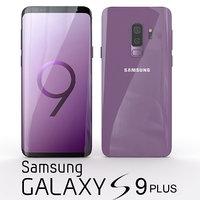 3D samsung galaxy s9 lilac