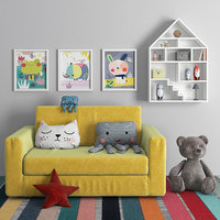 Children's sofa with decor