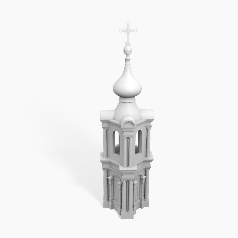 3D smolny tower model