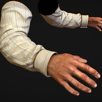 First Person Arms shirt FPS RIGGED animated