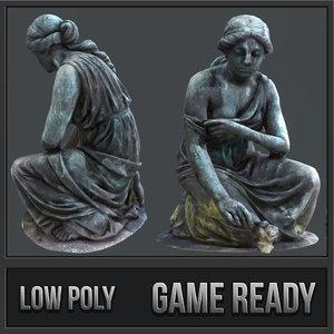 statue grief pbr 3D model