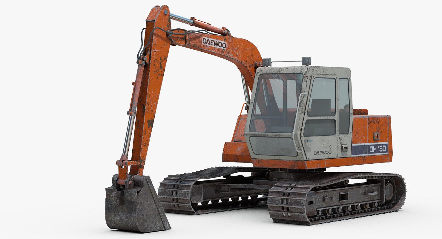 daewoo dh130 excavator model