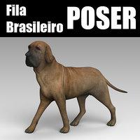 3D fila brasileiro model