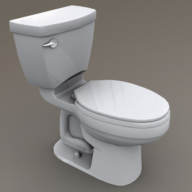 toilet polys unity 3D