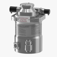 3D anesthesia vaporizer model