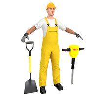 worker man 3D