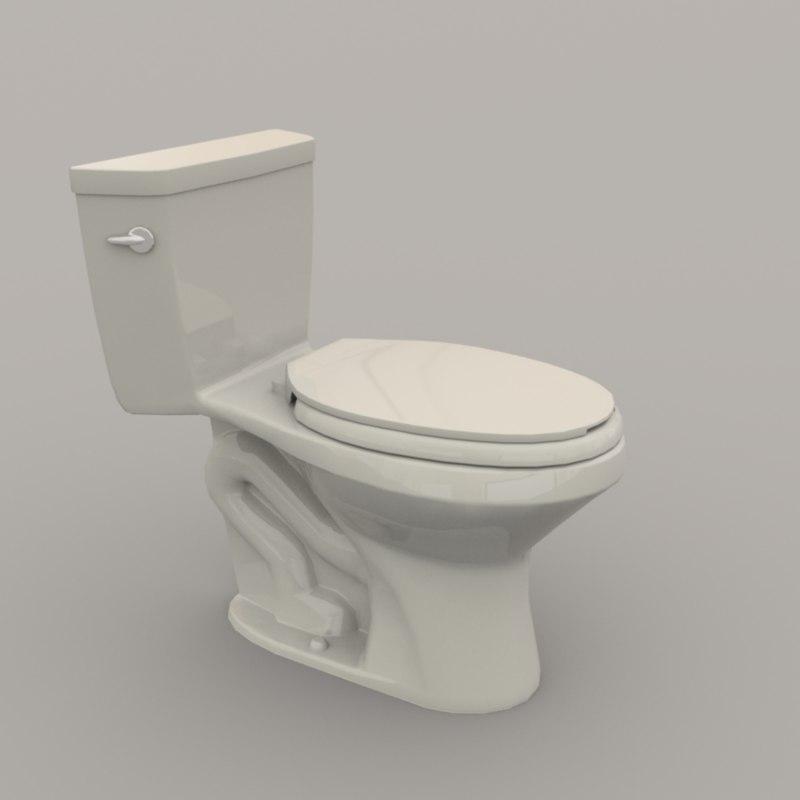 3D model toilet polys unity