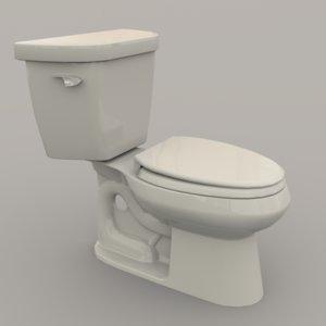 toilet polys unity 3D model