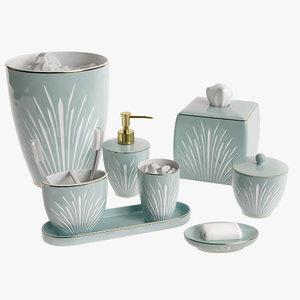 3D model bath accessories