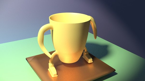 3D rigged character coffee cup