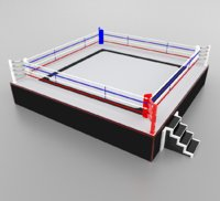boxing wrestling ring model