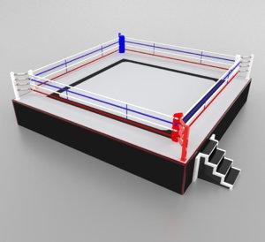 boxing wrestling ring model