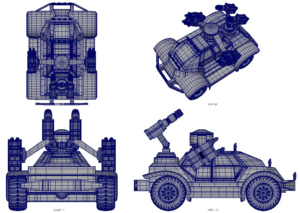 buggy military 3D model