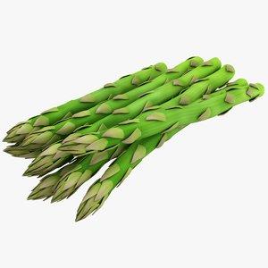 asparagus scanline ready 3D model
