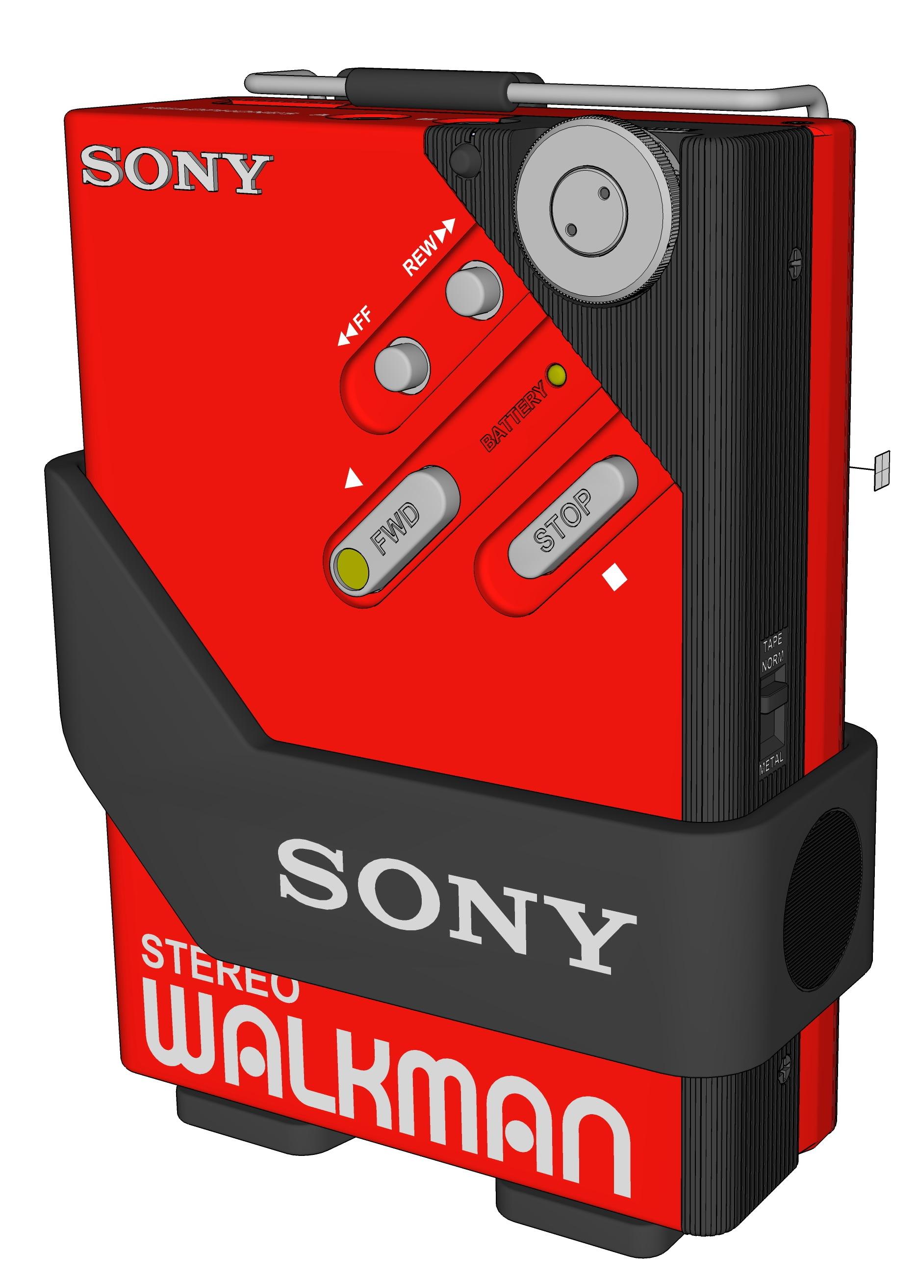 3D sony walkman model