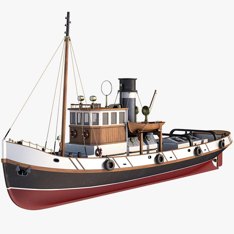 ulises tugboat 3D model