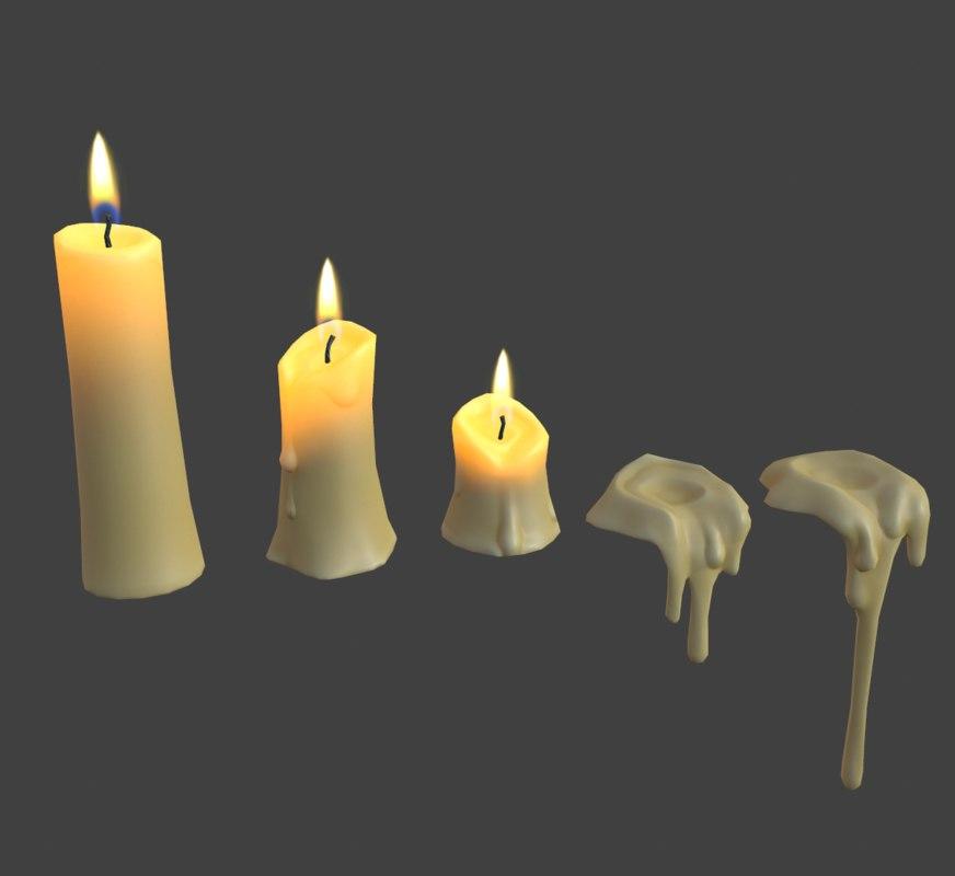 cartoon candles model