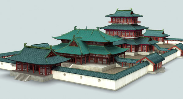 3D ancient china palace model