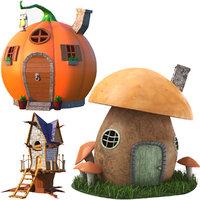 3D house cartoon model