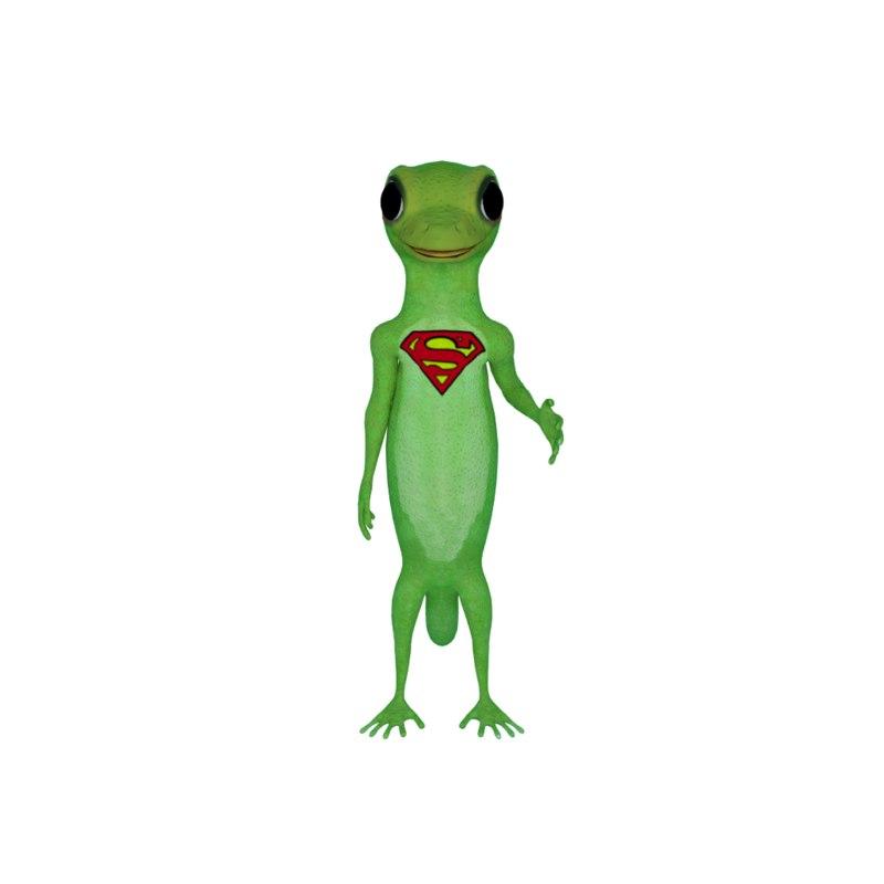 gecko caricature model